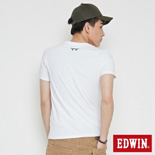 【網路限定款。8折優惠↘】EDWIN 限定配色立方ED 短袖T恤-男款 白色 1