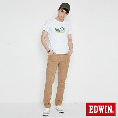 【網路限定款。8折優惠↘】EDWIN 限定配色立方ED 短袖T恤-男款 白色 3