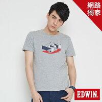 EDWIN 限定配色 短袖T恤 男款 灰色