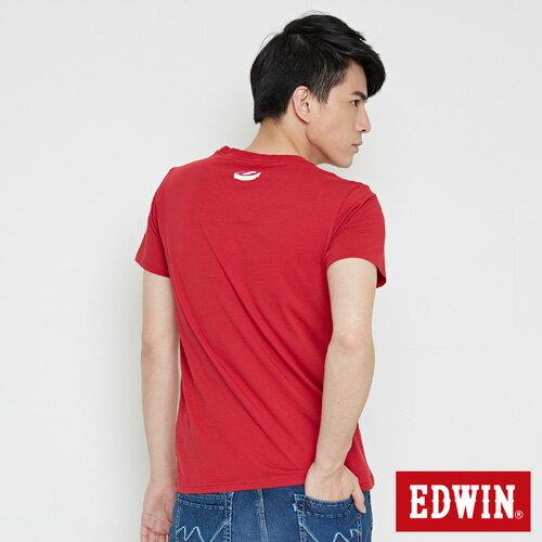【最愛T恤。專區490元均一價↘】EDWIN 翻玩經典雙LOGO 短袖T恤-男款 紅色【結帳滿799輸入優惠券代碼Fashion799100↘現折100元↘限量300張↘限用一次】 1