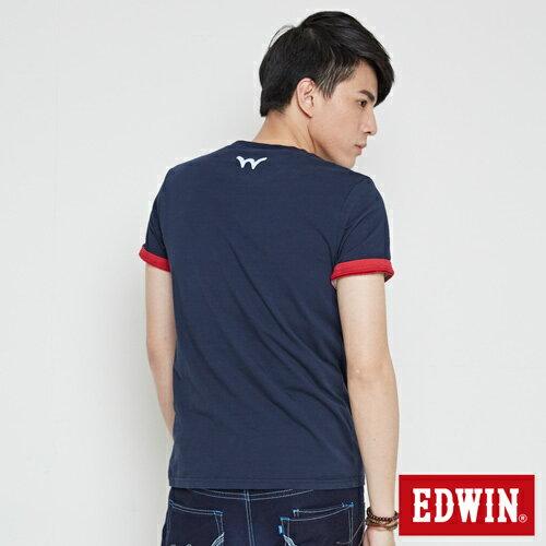 【最愛T恤。專區490元均一價↘】EDWIN 炫玩立體ED 短袖T恤-男款 丈青 1