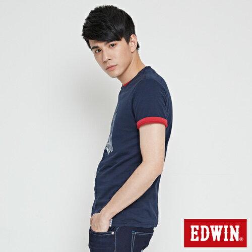【最愛T恤。專區490元均一價↘】EDWIN 炫玩立體ED 短袖T恤-男款 丈青 2