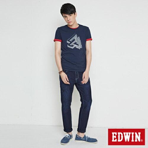 【最愛T恤。專區490元均一價↘】EDWIN 炫玩立體ED 短袖T恤-男款 丈青 3