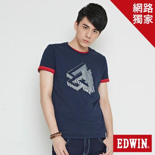 【最愛T恤。專區490元均一價↘】EDWIN 炫玩立體ED 短袖T恤-男款 丈青 0