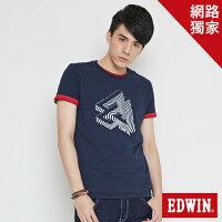 EDWIN 炫玩立體ED 短袖T恤-男款 丈青