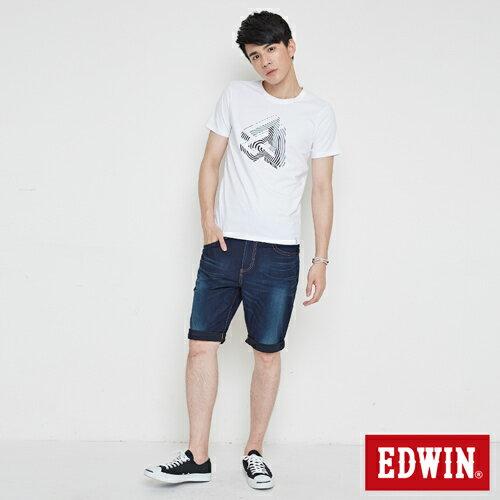 【網路限定款。8折優惠↘】EDWIN 炫玩立體ED 短袖T恤-男款 白色 3