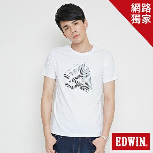 【網路限定款。8折優惠↘】EDWIN 炫玩立體ED 短袖T恤-男款 白色 0