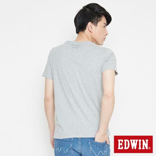【網路限定款。8折優惠↘】EDWIN 炫玩立體ED 短袖T恤-男款 麻灰色 1