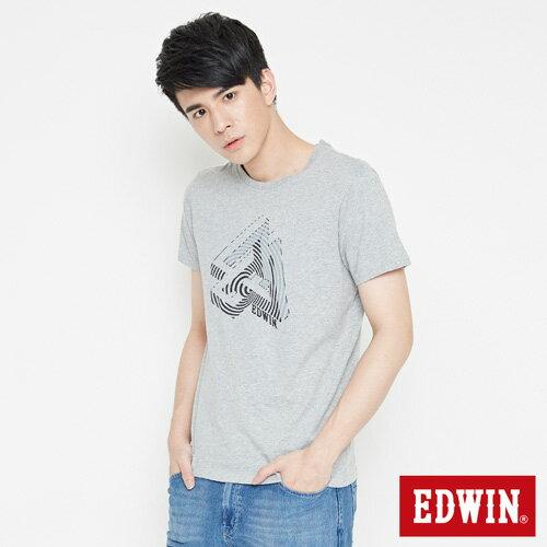 【網路限定款。8折優惠↘】EDWIN 炫玩立體ED 短袖T恤-男款 麻灰色 2