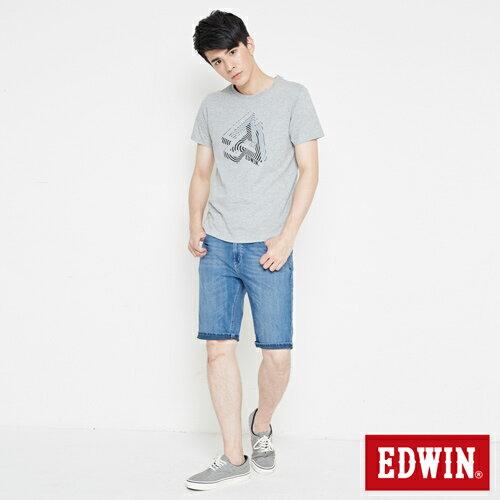 【網路限定款。8折優惠↘】EDWIN 炫玩立體ED 短袖T恤-男款 麻灰色 3