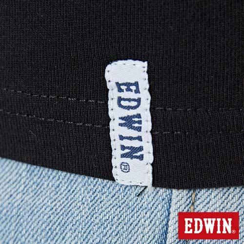 【網路限定款。8折優惠↘】EDWIN 三角漩渦幾何圖 短袖T恤-男款 黑色 5