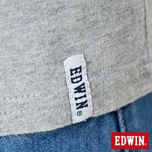 【網路限定款。8折優惠↘】EDWIN 立體夾心ED 短袖T恤-女款 麻灰色 5