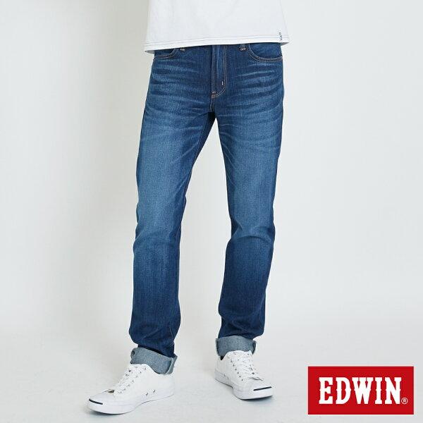 【生日慶加碼|正品夏褲9折↘】EDWIN503基本五袋式重磅窄直筒牛仔褲-男款石洗藍【525-531限定】【單筆滿5030元送限量生日T】【5月會員消費滿3000元再賺15%點數】