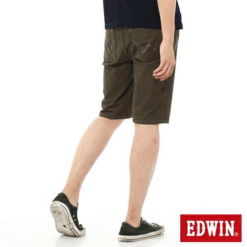 【過年加碼。2件再9折優惠↘】EDWIN JERSEYS迦績內藏腰頭彩色短褲-男-橄欖綠 1