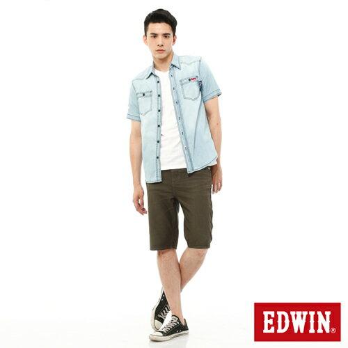 【過年加碼。2件再9折優惠↘】EDWIN JERSEYS迦績內藏腰頭彩色短褲-男-橄欖綠 2