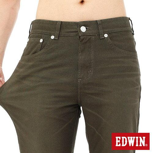 【過年加碼。2件再9折優惠↘】EDWIN JERSEYS迦績內藏腰頭彩色短褲-男-橄欖綠 3