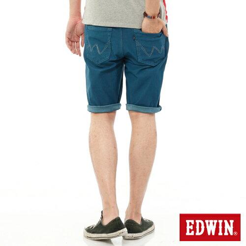 【換季折扣加碼單件8折↘】EDWIN JERSEYS迦績內藏腰頭彩色短褲-男-藍色 1