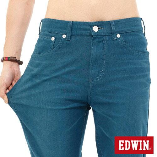 【換季折扣加碼單件8折↘】EDWIN JERSEYS迦績內藏腰頭彩色短褲-男-藍色 3