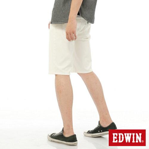 【過年加碼。2件再9折優惠↘】EDWIN JERSEYS迦績內藏腰頭彩色短褲-男-白色 1