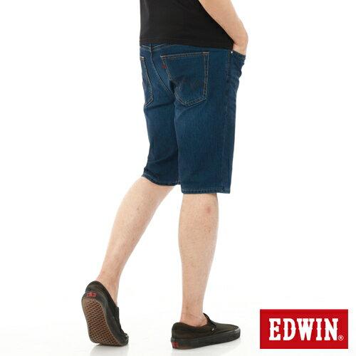 【1290元優惠↘】【大尺碼】EDWIN JERSEYS迦績內藏腰頭牛仔短褲-男-酵洗藍 0