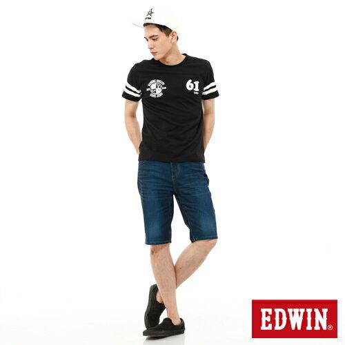 【1290元優惠↘】【大尺碼】EDWIN JERSEYS迦績內藏腰頭牛仔短褲-男-酵洗藍 2