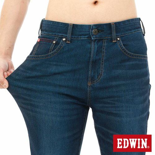 【1290元優惠↘】【大尺碼】EDWIN JERSEYS迦績內藏腰頭牛仔短褲-男-酵洗藍 3