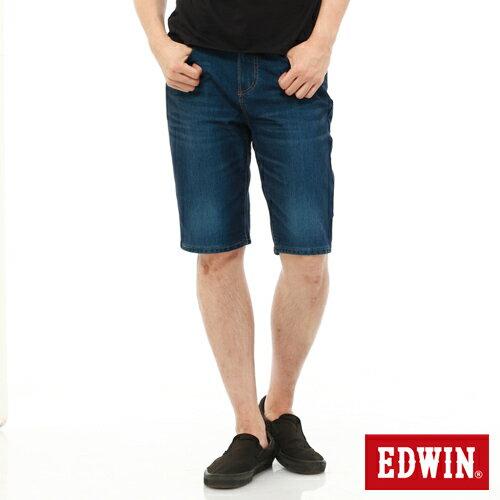 【1290元優惠↘】【大尺碼】EDWIN JERSEYS迦績內藏腰頭牛仔短褲-男-酵洗藍 1