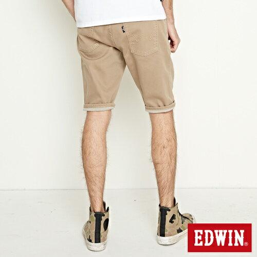 【過年加碼。2件再9折優惠↘】EDWIN 503 COOL快乾五袋式 基本短褲-男款 灰卡其 0