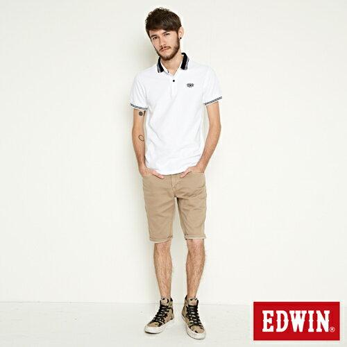 【過年加碼。2件再9折優惠↘】EDWIN 503 COOL快乾五袋式 基本短褲-男款 灰卡其 3