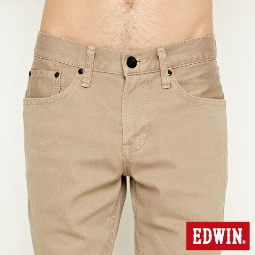【過年加碼。2件再9折優惠↘】EDWIN 503 COOL快乾五袋式 基本短褲-男款 灰卡其 4