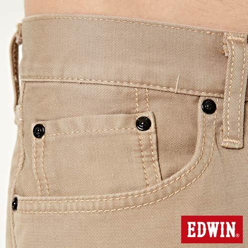 【過年加碼。2件再9折優惠↘】EDWIN 503 COOL快乾五袋式 基本短褲-男款 灰卡其 7