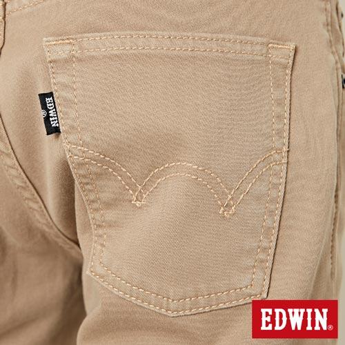 【過年加碼。2件再9折優惠↘】EDWIN 503 COOL快乾五袋式 基本短褲-男款 灰卡其 8