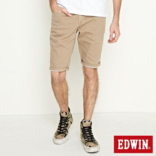 【過年加碼。2件再9折優惠↘】EDWIN 503 COOL快乾五袋式 基本短褲-男款 灰卡其 1