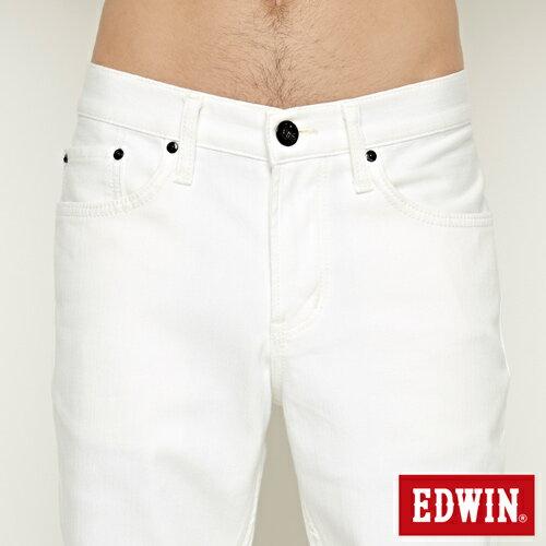 【9折優惠↘】EDWIN 503 COOL快乾五袋式 基本短褲-男款 白色【單筆888輸入代碼fashion2904-1折100元↘單筆999點數13倍↘再抽2萬里程數↘】 4