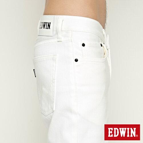 【9折優惠↘】EDWIN 503 COOL快乾五袋式 基本短褲-男款 白色【單筆888輸入代碼fashion2904-1折100元↘單筆999點數13倍↘再抽2萬里程數↘】 6