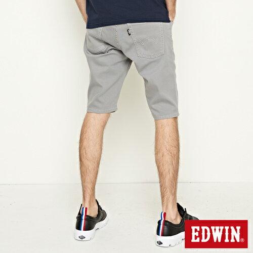 【9折優惠↘】EDWIN 503 COOL快乾五袋式 基本短褲-男款 銀灰色【單筆888輸入代碼fashion2228-2折100元↘單筆999點數13倍↘再抽2萬里程數↘】 1