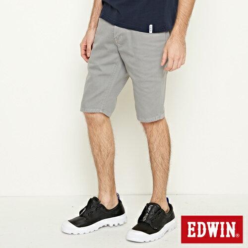 【9折優惠↘】EDWIN 503 COOL快乾五袋式 基本短褲-男款 銀灰色【單筆888輸入代碼fashion2228-2折100元↘單筆999點數13倍↘再抽2萬里程數↘】 2