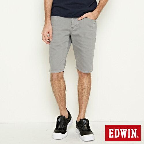 【9折優惠↘】EDWIN 503 COOL快乾五袋式 基本短褲-男款 銀灰色【單筆888輸入代碼fashion2228-2折100元↘單筆999點數13倍↘再抽2萬里程數↘】 0