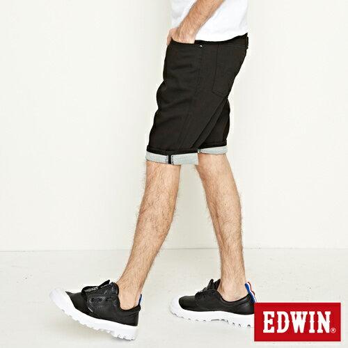 【9折優惠↘】EDWIN 503 COOL快乾五袋式 基本短褲-男款 黑色【單筆888輸入代碼fashion2228-3折100元↘單筆999點數13倍↘再抽2萬里程數↘】 0