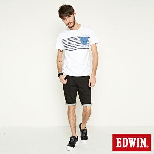 【9折優惠↘】EDWIN 503 COOL快乾五袋式 基本短褲-男款 黑色【單筆888輸入代碼fashion2228-3折100元↘單筆999點數13倍↘再抽2萬里程數↘】 3