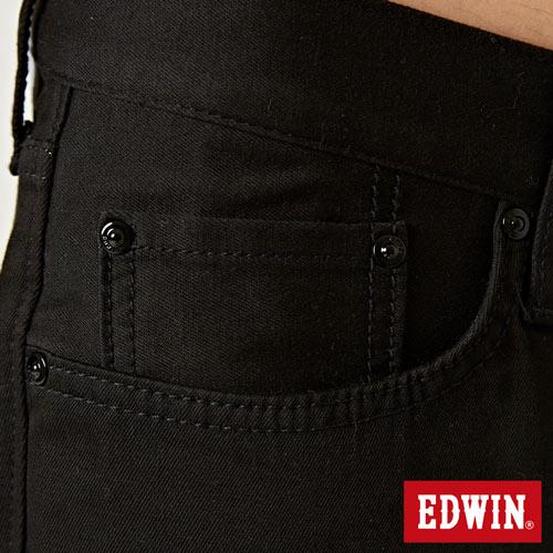 【9折優惠↘】EDWIN 503 COOL快乾五袋式 基本短褲-男款 黑色【單筆888輸入代碼fashion2228-3折100元↘單筆999點數13倍↘再抽2萬里程數↘】 7