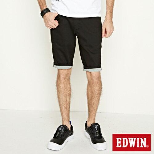 【9折優惠↘】EDWIN 503 COOL快乾五袋式 基本短褲-男款 黑色【單筆888輸入代碼fashion2228-3折100元↘單筆999點數13倍↘再抽2萬里程數↘】 1