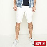EDWIN 503基本五袋短褲-男款 白色