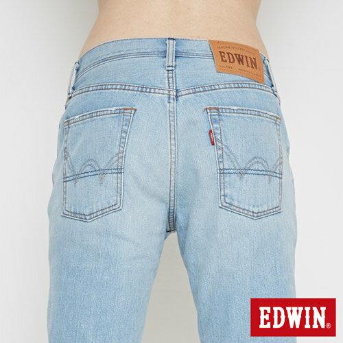【換季最終波。任2件再9折優惠↘】EDWIN 503 NARROW破壞 牛仔短褲-男款 重漂藍 5