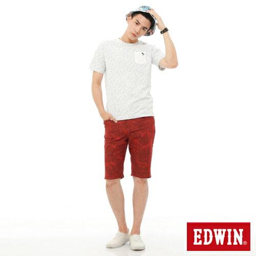 【1290元優惠↘】EDWIN JERSEYS迦績超彈力印花短褲-男-暗桔 2