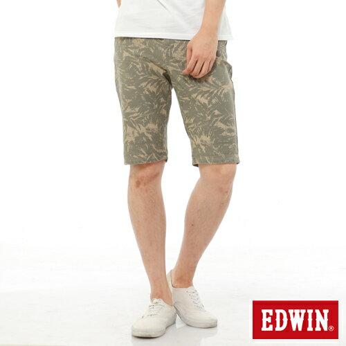 【1290元優惠↘】EDWIN JERSEYS迦績超彈力印花短褲-男-淺卡其 0