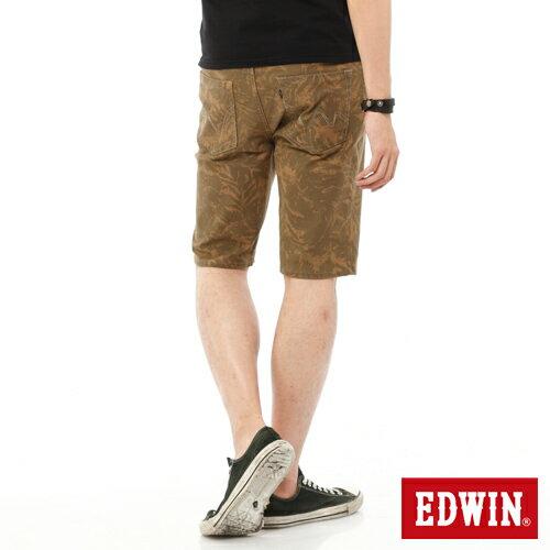 【1290元優惠↘】EDWIN JERSEYS迦績超彈力印花短褲-男-褐色 1