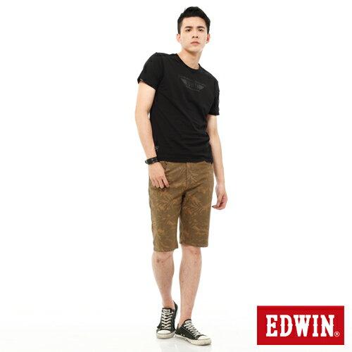 【1290元優惠↘】EDWIN JERSEYS迦績超彈力印花短褲-男-褐色 2