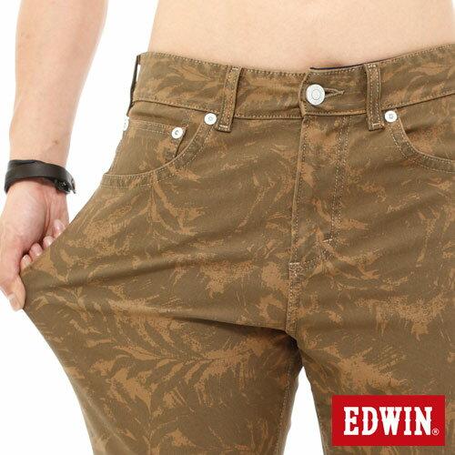 【1290元優惠↘】EDWIN JERSEYS迦績超彈力印花短褲-男-褐色 3