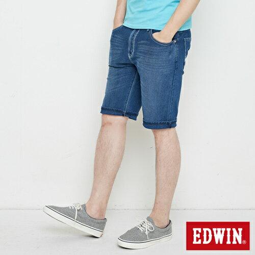 【9折優惠↘】【大尺碼】EDWIN JERSEYS迦績極涼寬短褲-男款 石洗綠 2